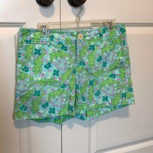 Lilly Pulitzer Cotton Alligator Shorts